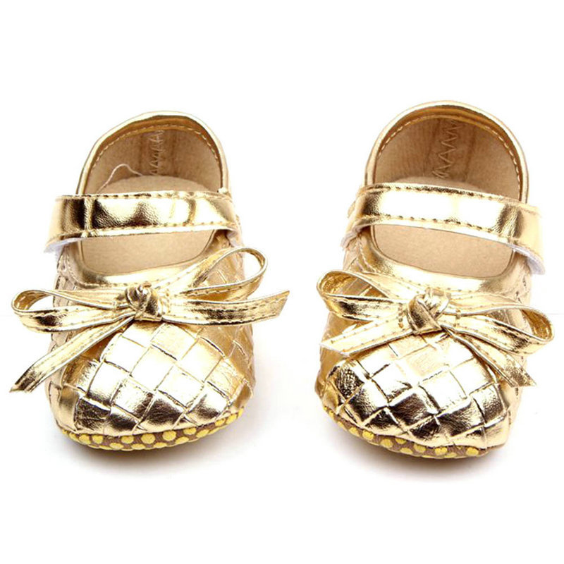 Baby Moccasins 0-12M Baby Girls Kids PU Leather Princess Shoes Plaid Bowknot Toddler Shoes moccasins topsaydery