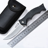 Hot Selling 440C Blade Pocket Knife Stone Washed G10 Handle Tactical Folding Knife Camping Hunting Survival