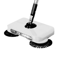 Ultra Silent Push Type Sweeping Machine Cleaner Sweep Wipe Dual Purpose Dustpan Set With Light Home