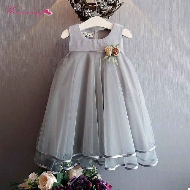 88c5c90f3a5f WEIXINBUY Fashion Cute Princess Baby Dress Sleeveless Floral Design For  Girls Clothes Party Dresses 3-7Y