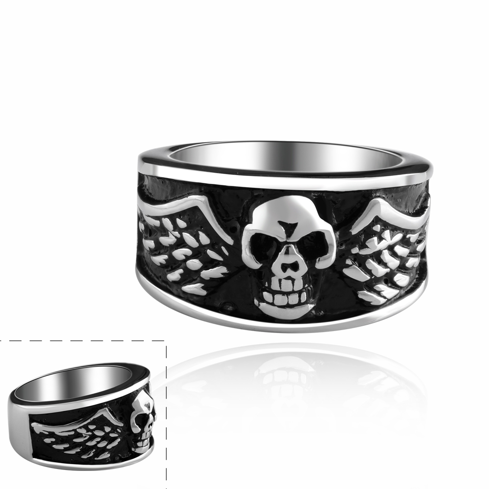 13 Mm Wide Strip Brush Titanium Wedding Ring Skull 316 L Polished Stainless Steel Rings For Women And Men Easter R013in From Jewelry: Wide Wedding Bands Skull At Websimilar.org