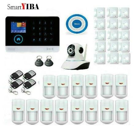 SmartYIBA Wireless Wifi Gsm Security Alarm System Kit Android IOS APP Spanich Russian French Italian Voice Wireless Strobe Siren
