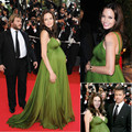 Long Green Chiffon Angelina Jolie Red Carpet Dress Celebrity 2016