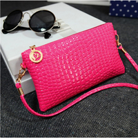 Fashion Crocodile Women Handbags Solid Casual Women Messenger Bags High Quality PU Leather Ladies Clutches Purse