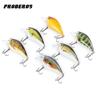 6pcs Fishing Lure Proberos 6 Color Fishing Crankbait Hook Lure Bait Fishing Bait 6 High Carbon