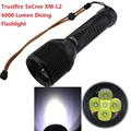 60W 6000 Lumen Underwater 100m Trustfire DF005 Diving Flashlight 5 x CREE L2 LED 3-mode wateproof  Torch (2x26650 battery)