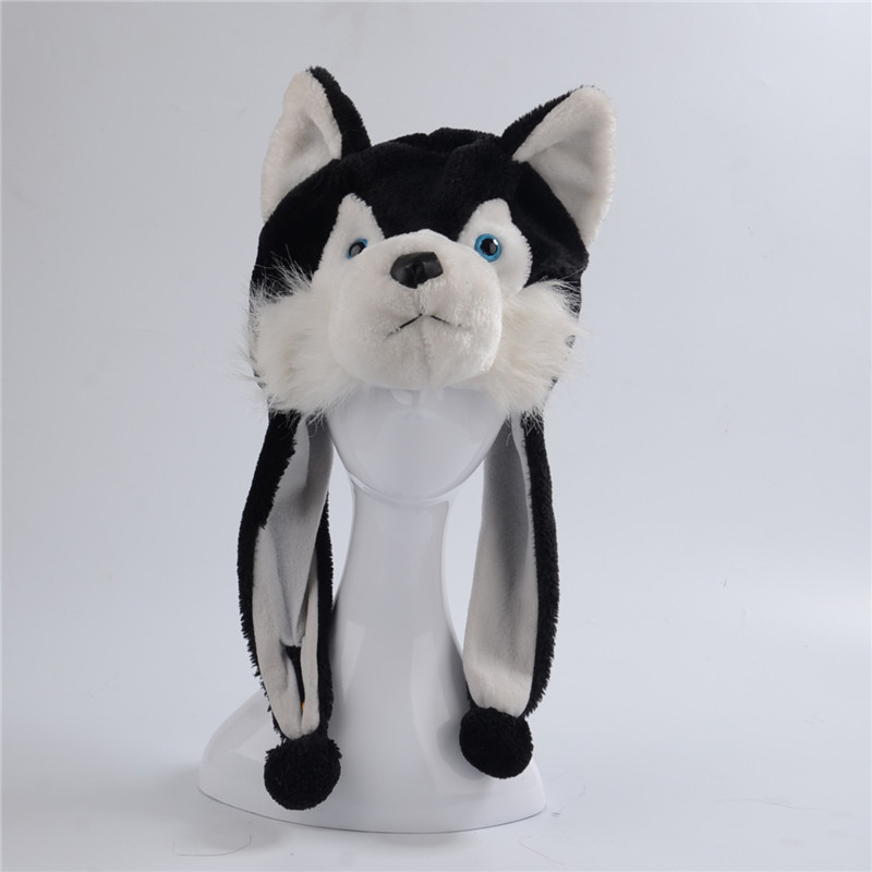 9c55246dd65 Aliexpress.com   Buy Husky Wolf Dog Cotton Cartoon Plush Toys Hats Animal  Plush Hat Caps Christmas Present from Reliable animal plush hats suppliers  on ...