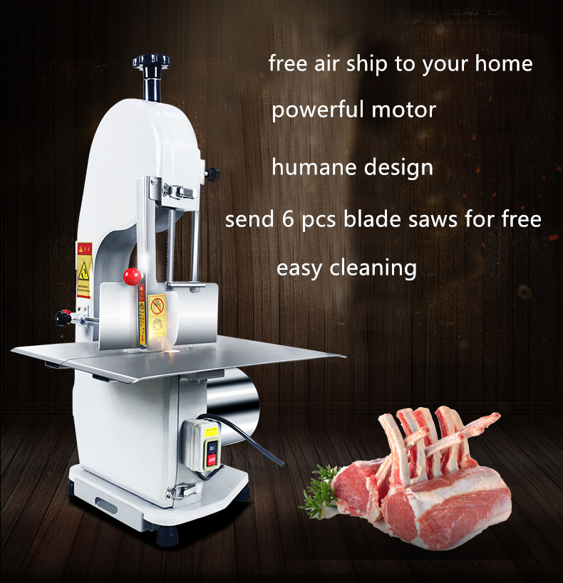 FREE SHIP Commercial Electric frozen Meat fish Cutter Automatic Bone Cutter Bone Saw Bone Sawing Machine Bone Cutting Machine 3pcs fish bone print bathroom rug set
