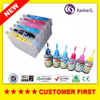 6PCS For T0791 Empty Refillable Ink Cartridges 1set Dye INK For Epson STYLUS PHOTO 1400 PX700W