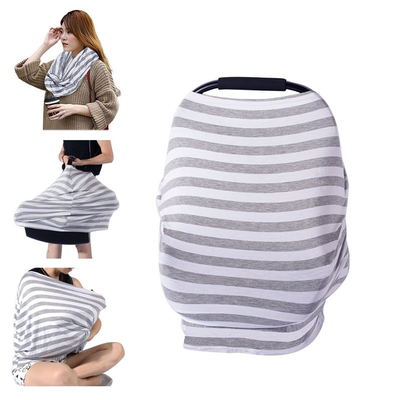 Baby Car Seat Cover Nursing Cover For Newborn Baby Feeding Solid 100% Cotton Baby Car Seat Canopy Soft Breastfeeding Shawl