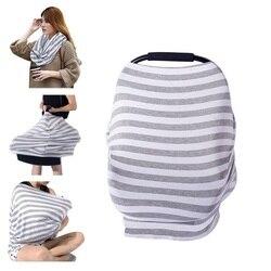 Capa de assento do carro do bebê capa de enfermagem para o bebê recém-nascido alimentação sólida 100% algodão do bebê assento de carro dossel macio amamentação xale
