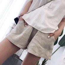 Летние шорты для беременных; брюки для беременных; шорты для отдыха для беременных женщин; одежда с эластичной резинкой на талии; повседневная одежда для мам