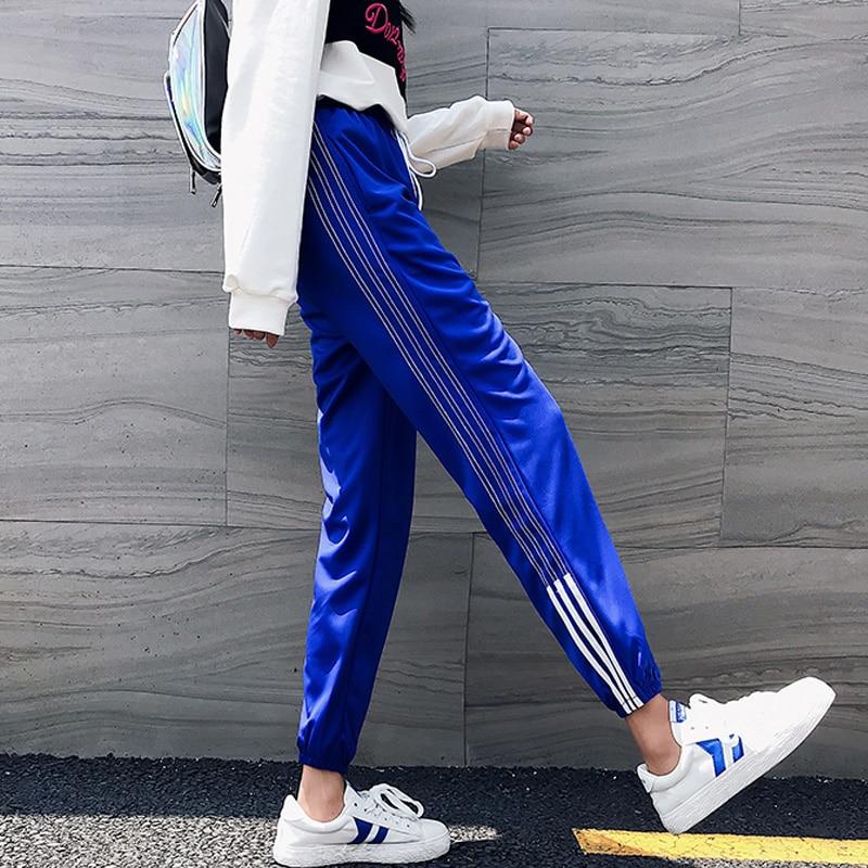 Joggers Harem Pants Hip Hop Casual Large Size S-2XL Loose Beam Legs Solid Color Ankle-Length Pants Women's Couple Harajuku Pants