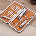 High Quality 12 Pcs Stainless steel Nail Art Manicure Set Nail Clipper Kit Nail Cuticle Clippers Pedicure Cleaner Grooming Kit