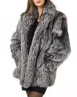 Faux Fur Coat Fashion Women Celebrity Evening Nightclub Party Faux Fox Outer Wear Sexy Warm Fur
