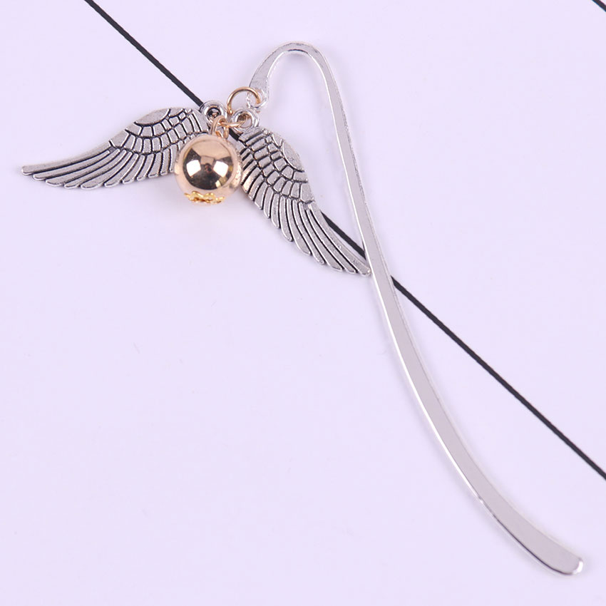 1PC Gold Best Gift For Reader Stationery Snitch Bookmark Charm Bookmark Office Bookmark Gift
