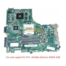 laptop motherboard For acer aspire E5-472 GeForce 820M 2GB graphics ddr3 Mainboard DA0Z8BMB6C0 NBVAE11001 NB.VAE11.001