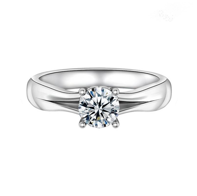 1 carat 925 sterling silver female Fashion ring custom wedding customized diamond ring (XJ)
