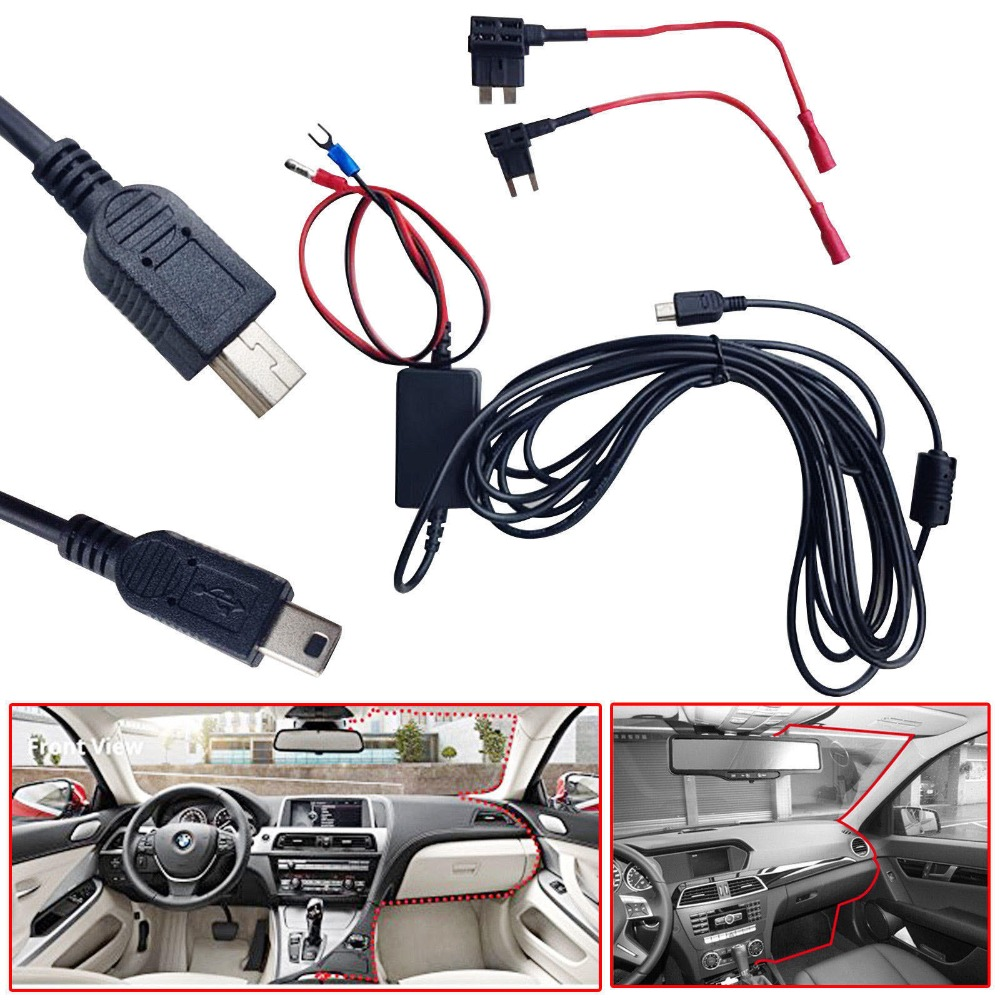 Useful Mini Dash Cam Usb 10 Foot Hardwire Fuse Kit 12v To 5v For Car Box Nextbase Hard Wire Camera Dvr Exclusive Power 512g 402g 312gw