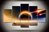 Spectacular Meteor Shower 5 Panels Canvas Painting For Home Decoration Unique Wall Pictures For Living Room