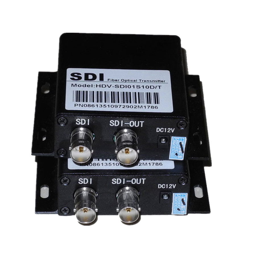 Super Quality HD SDI Coaxial Fiber Optic Converter With RS485 Control 20km BNC Fibra Optical Video