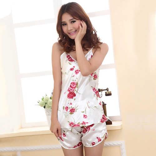 c520ce6609 ... 2018 pajamas sets for wsatin pijama summer nightwear sexy lingerie  pajamas pyjamas women homewear NEW ...