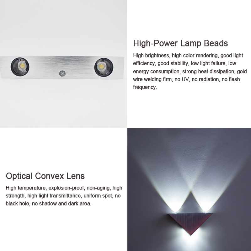 Led Indoor Wall Lamps 1pce 6w Wall-mounted Modern Wall Lamp Light Led Fixture With Aluminum For Bedroom Corridor Stair Loft Decoration Wall Sconce Choice Materials
