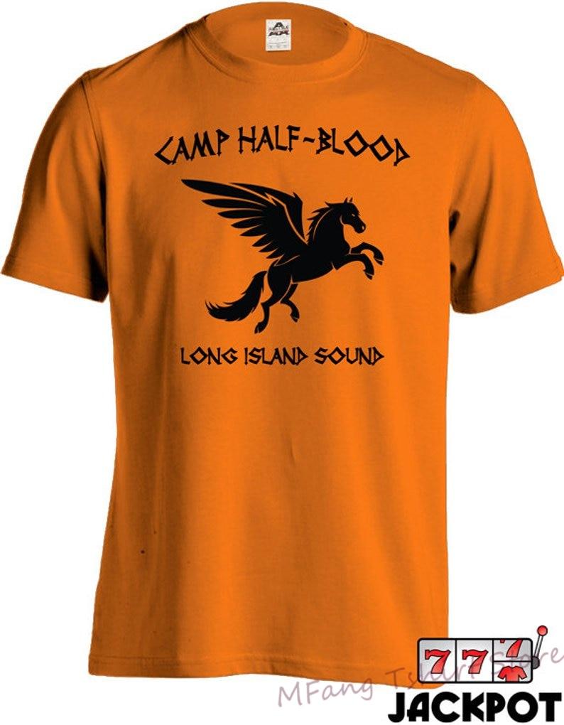 Camp Half Blood T Shirt Percy Jackson Movie Shirt Long Island Sound Greek Demi God Youth Men Tee MD-144