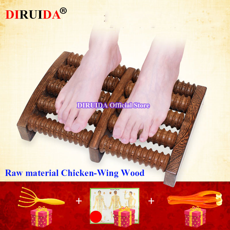 100% Original Wood Foot Massager Massage Machines High Quality Chicken-WingWood Handmade Production Care