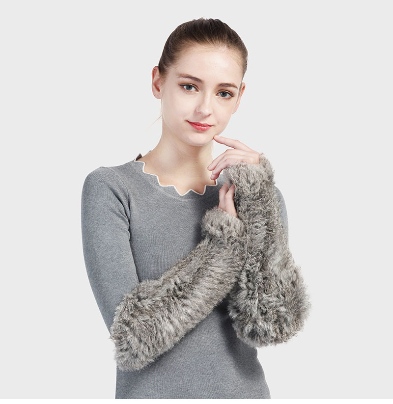Pudi Gf705 Hand Made Knitted Fur Fabric Rabbit Fur Glove Gloves Mittens Mit Handwear Skilful Manufacture Back To Search Resultsapparel Accessories