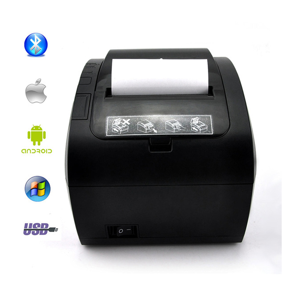 GZ8002 80mm Thermal Receipt Printer Automatic cutter Restaurant Kitchen Supermarket Printer USB+Ethernet+Wifi Bluetooth printer coffee printer food printer inkjet printer selfie coffee printer full automatic latte coffee printe wifi function
