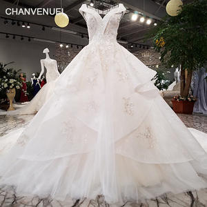 5a497cee838 CHANVENUEL lace wedding dress beaded white gown dress 2018
