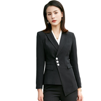 Winter White Elegant Office Lady Business Suits Female 2 Two Piece Set Femme Long Sleeve Blazer Jacket + Pants Suits Outfits 4XL
