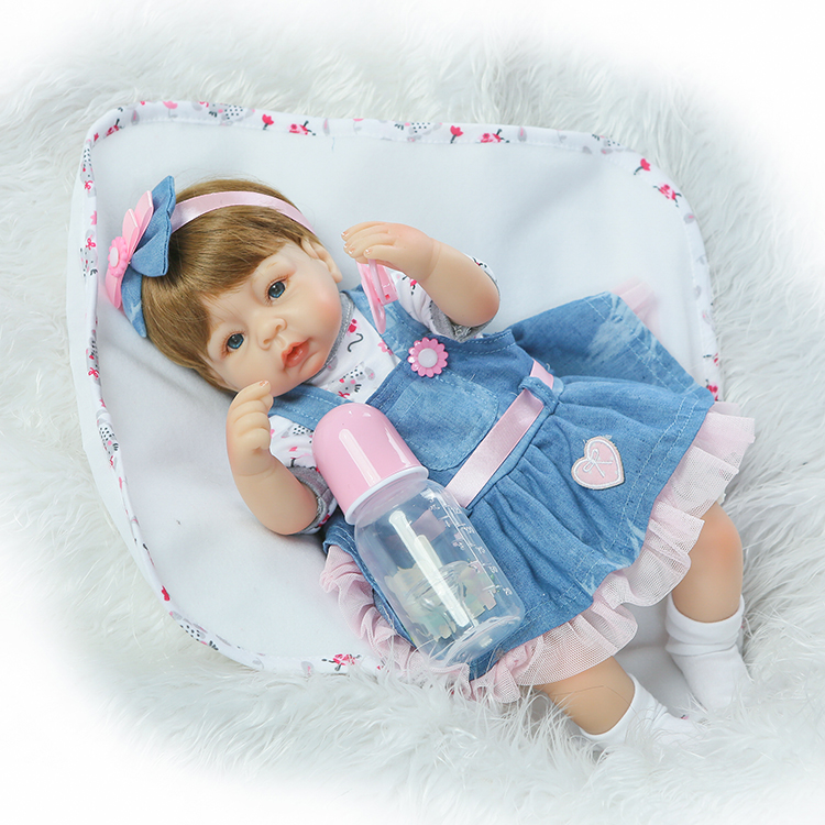 40cm Kawaii Silicone Reborn Babies Dolls Cute Newborn Girl Baby Doll Toy For Kids Girl Brinquedos Child Birthday Gift silicone baby reborn dolls lifelike newborn girl babies toy for child boy doll birthday gift brinquedos hds21