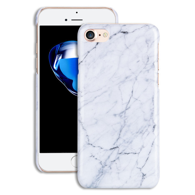 Smooth Granite Marble Texture plastic back Cover for iPhone 7 7Plus Top  Quality ultra thin Hard PC Stone Pattern Phone Case capa 82b95db926