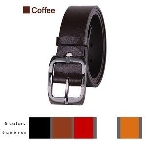 Image 3 - Novo designer de cintos homens alta qualidade marca luxo cinto de couro pino fivela preto negócios cinta de calças cinturones hombre cinto