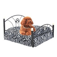 2015 New Arrival Free Shipping 2 Color Metal Frame Bed For Dogs Pets Puppy Zebra And