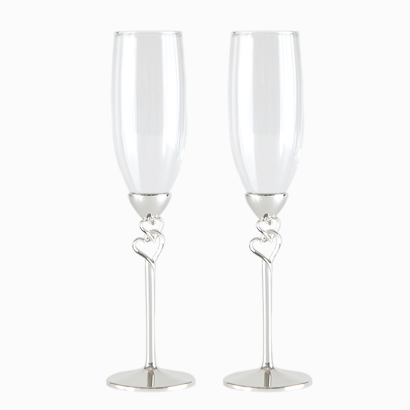 Promotion Crystal champagne glass red wine the cup wedding gift diamond heart goblet/ with bowknot shape