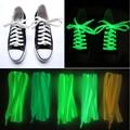 10 Peças/lote Multicolor 100 cm Festa de Cordas Para Fluorescente Glowing Led Casual Sapatos Cadarços Luminosos Cadarços de sapatos Sapatas de Lona