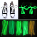 10 Pieces/Lot Multicolor 100cm Glowing Casual Led Shoes Luminous Shoelaces Strings Party For Fluorescent Shoe Laces Canvas Shoes