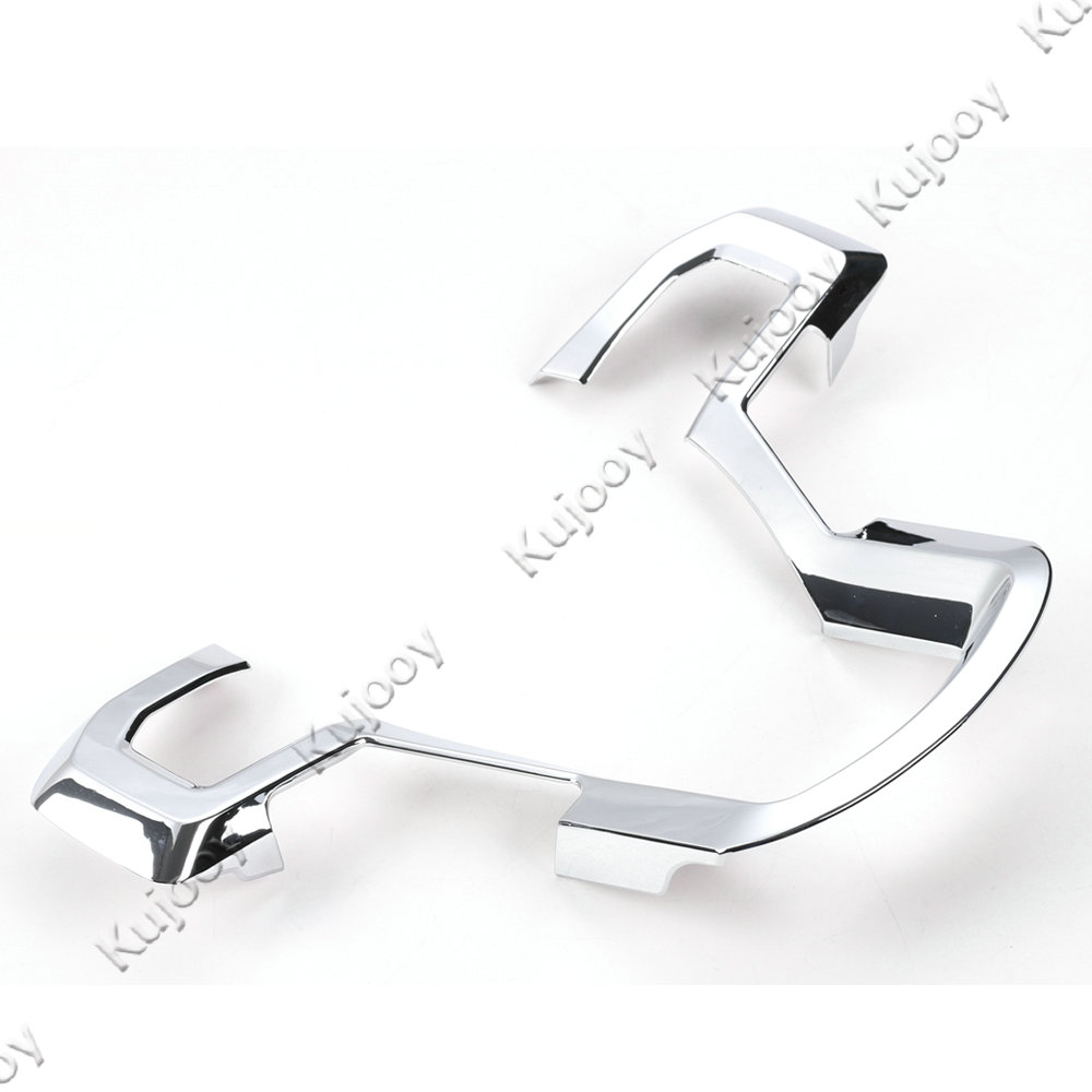 Interior Chrome ABS Steering Wheel Button Frame Ring Trim Decal ...