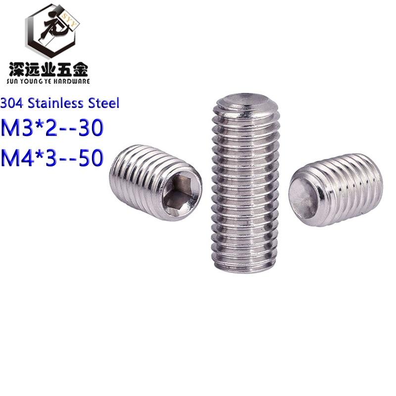Screws M8 304 Stainless Steel Grub Screws Cone Point Hexagon Hex Socket Set Screws DIN914 Fasteners Color : 35mm, Size : M8 5Pcs