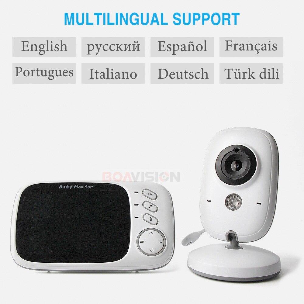 VB603 babyphone vidéo 2.4G Sans Fil Avec 3.2 Pouces LCD 2 Façon Audio Parler vision nocturne de Surveillance caméra de sécurité Baby-Sitter - 6