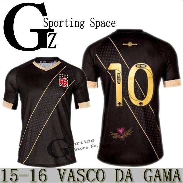 2016 Camisa de Vasco Da Gama Third Black 2015 16 Soccer Jersey New  sportswear Football Shirt Best Top Camiseta Maillot em Camisas de futebol  de Sports ... f068d167ef7e1