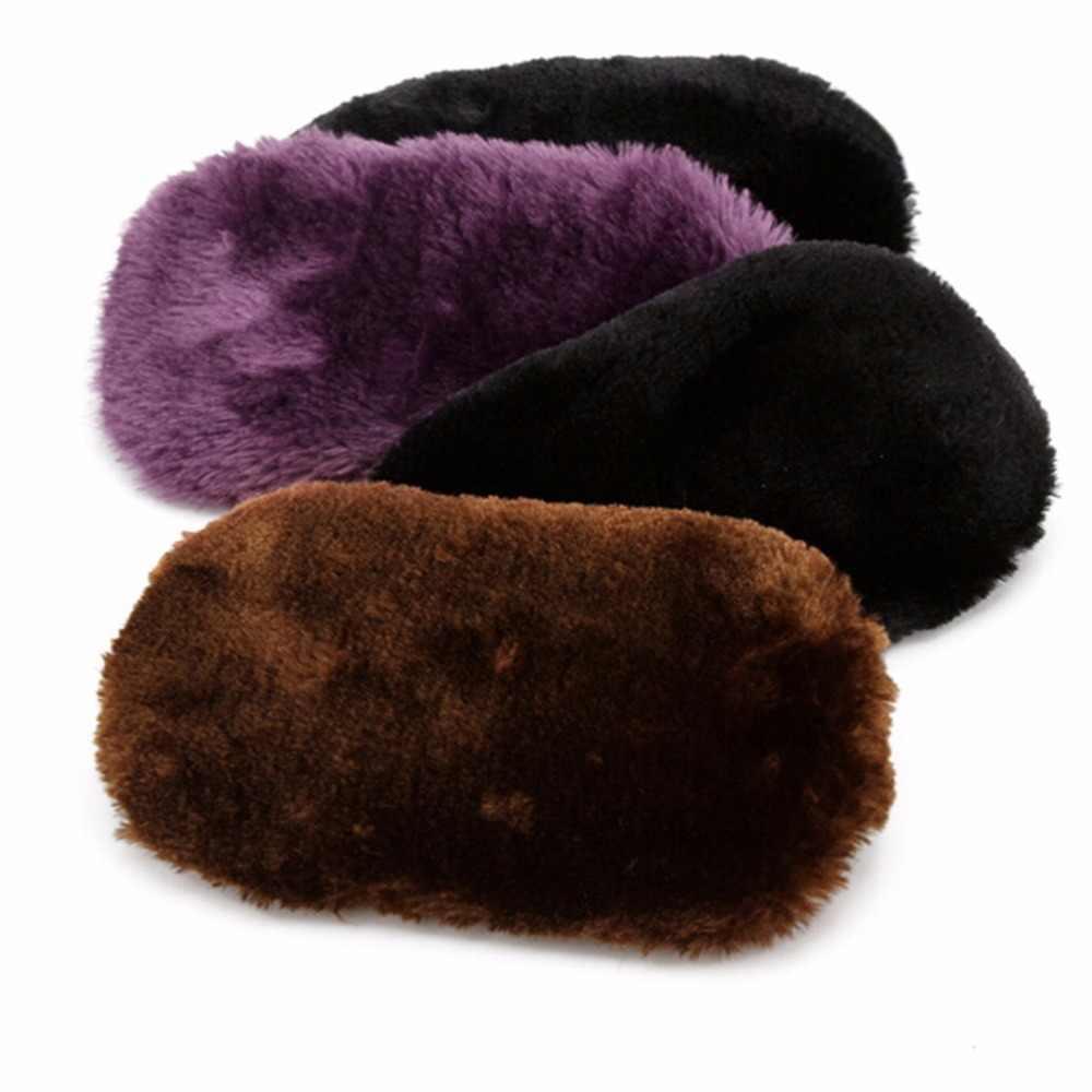 Suaves de Lã Polimento Sapatos Limpos Luvas de Limpeza da sapata do Cuidado da Escova Limpar Sapatos Luva Cores Aleatórias 1 Pc