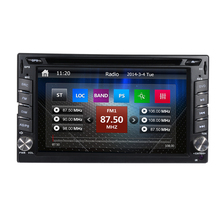 Free Shipping + Free Map Universal 6.2″ Double din touch screen car stereo with GPS system BT Ipod steering wheel control USD