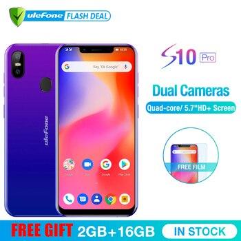 Ulefone S10 Pro Mobile Téléphone Android 8.1 5.7 pouces MT6739WA Quad Core 2 GB RAM 16 GB ROM 16MP + 5MP Arrière Double Caméra 4G Smartphone