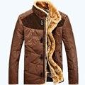 AFS JEEP hombres de la marca de invierno abajo cubre la chaqueta con la piel cuello más el tamaño Ml XL XXL XXXL invierno parkas 110