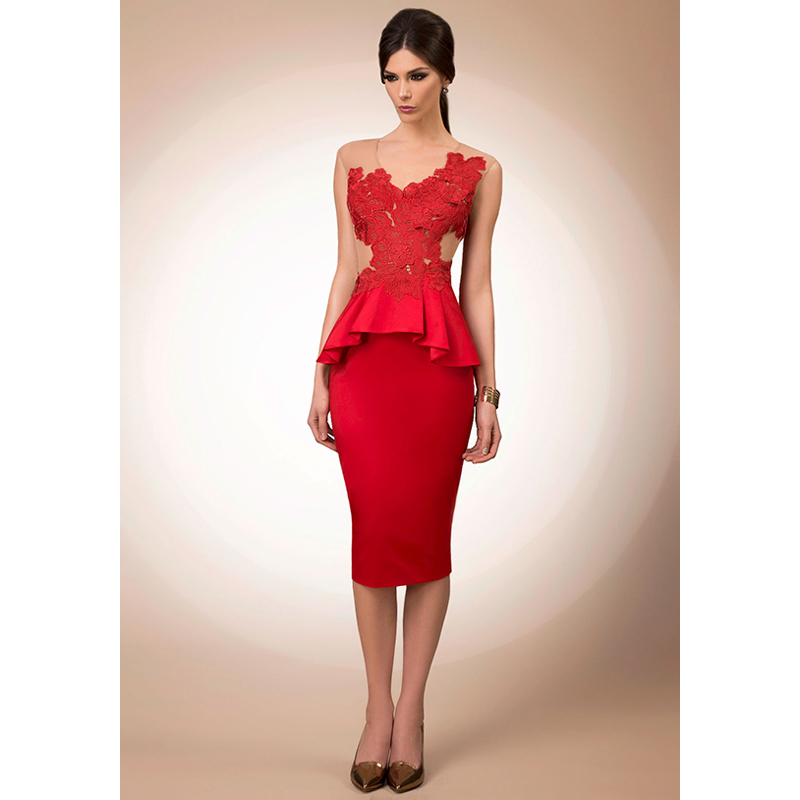 Aliexpress.com : Buy 2016 Spring Summer Red Cocktail Dresses V ...
