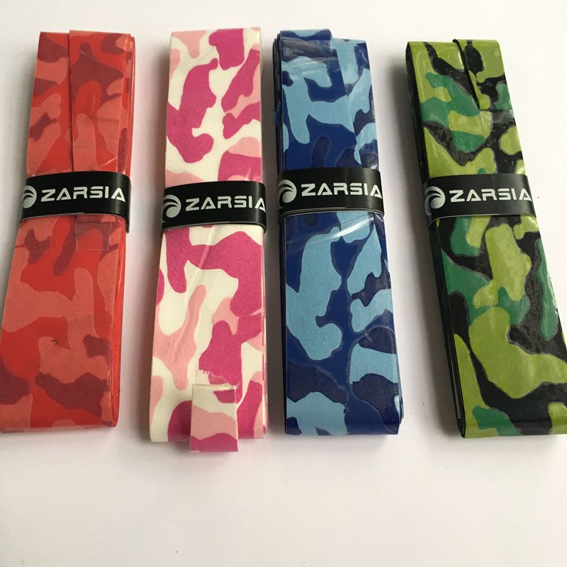 2016 ZARSIA NEW Thin sticky badminton grip,frosted camouflage Tennis overgrip,badminton over grip,squash racket grip